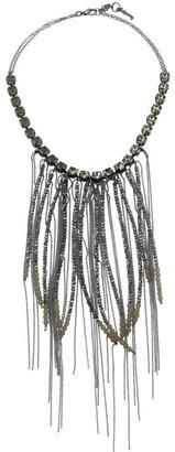 Fabiana Filippi Mixed Bead Frontal Necklace