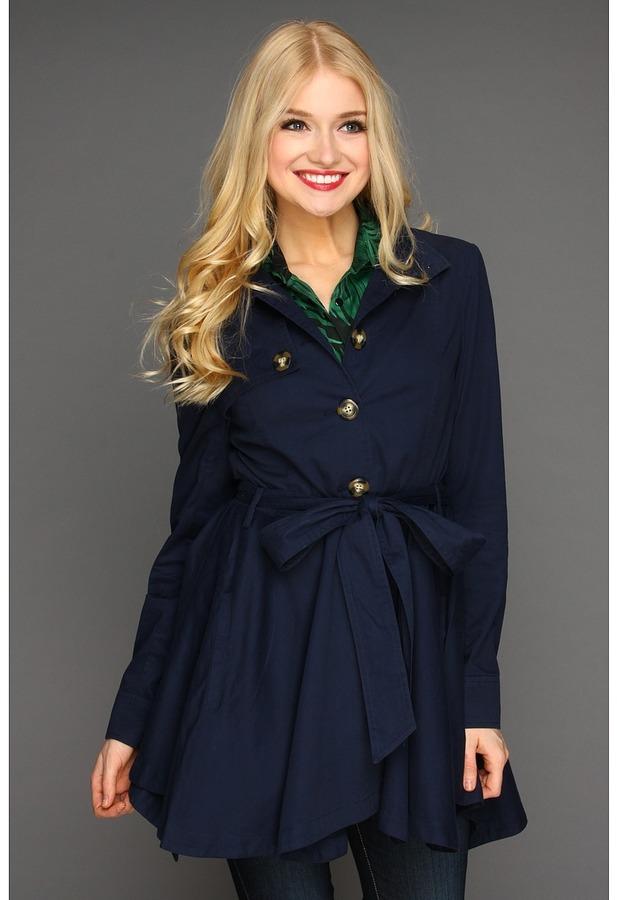 BB Dakota Linder Twill Coat (Navy Blue) - Apparel