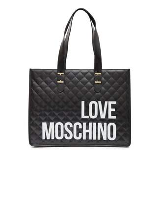 Love Moschino Accessories Quilted Logo Large Shopper Colour: BLACK, Si