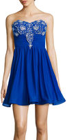 My Michelle Strapless Embellished-Bodice Party Dress