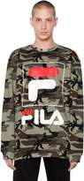 Fila Urban Camo Printed Cotton Blend Sweatshirt