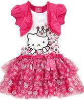Hello Kitty Kids Dress, Little Girls Mesh Tutu Dress