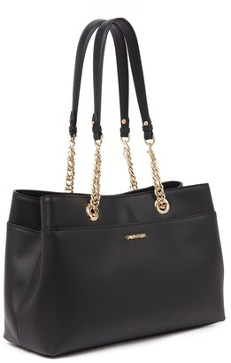 Calvin Klein Chained Daytona Leather Tote Bag