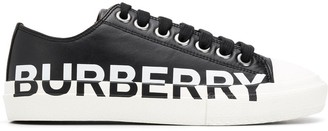 Burberry Logo Print Lace-Up Sneakers