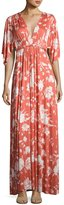 Rachel Pally Floral-Print Caftan Maxi Dress, Chipotle Peony, Plus Size