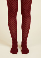 ModCloth Fashionably Emulate Tights in Plum