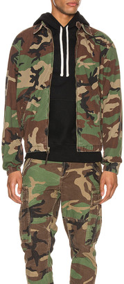 Polo Ralph Lauren Printed Cotton Bomber Jacket in Surplus Camo | FWRD