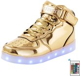 AFFINEST LED Light Up Shoes High Top Fashion Sneakers For Kids Boys Girls(US11 Little Kid,)