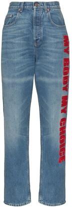 Gucci My Body My Choice straight leg jeans