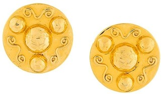 Celine Pre Owned disk clip-on earrings