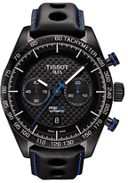 Tissot T1004273620100 Prs 516 Automatic Chronograph Date Leather Strap Watch, Black