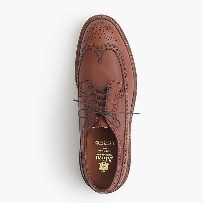 J.Crew Alden® for longwing bluchers in tobacco