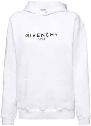 Givenchy Logo Print Jersey Sweatshirt Hoodie