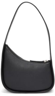 The Row Half Moon Leather Shoulder Bag - Black