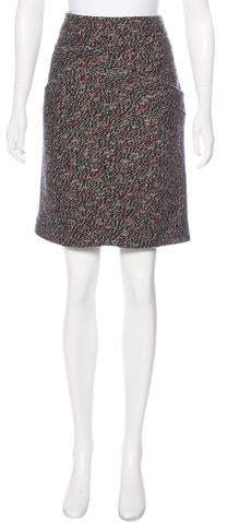 Chanel Tweed Wool Blend Skirt