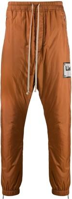 Rick Owens Side Logo Patch Track Pants