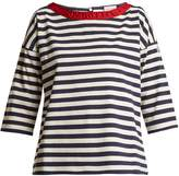 Moncler Boat-neck striped cotton T-shirt