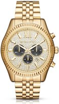 Michael Kors Lexington Pav -Dial Chronograph & Date Bracelet Watch