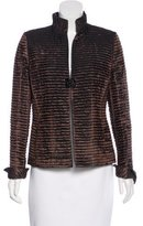 Akris Silk-Blend Pleated Jacket