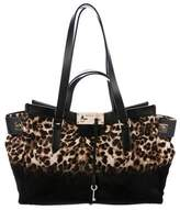 Jimmy Choo Leather-Trimmed Ponyhair Tote