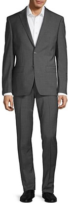 Calvin Klein Extra Slim-Fit Mini Check Stretch Suit