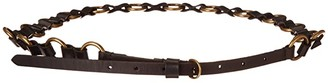 Frye 12 mm Ring Belt (Black) Women's Belts