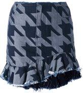 Marques Almeida Marques'almeida houndstooth pattern skirt