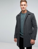 BOSS ORANGE By Hugo Boss Bodhy Overcoat Textured Weave