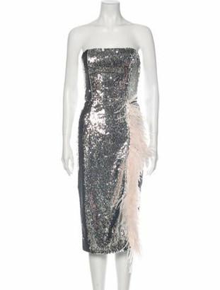 16Arlington Strapless Knee-Length Dress Silver Strapless Knee-Length Dress