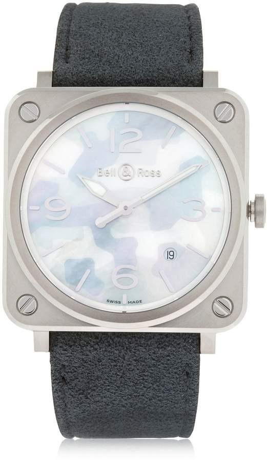 Bell & Ross Brs Camouflage Steel Watch