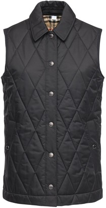 Burberry Quilted Vest W/Check Lining