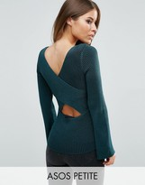 Asos Sweater With Extreme Cross Back In Rib