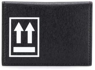Off-White logo printed card holder