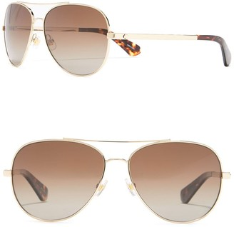 Kate Spade Avaline 2/S 58mm Polarized Aviator Sunglasses