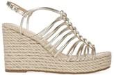 Via Spiga Selma Metallic Leather Platform Espadrille Wedge Sandals
