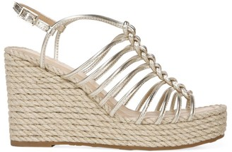 Via Spiga Selma Rope & Metallic Leather Platform Wedge Sandals