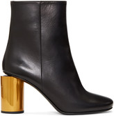 Acne Studios Black and Brass Allis Boots