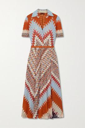 Missoni Crochet-knit Midi Dress - Orange