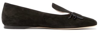 Fendi Ffreedom Suede Loafers - Womens - Black