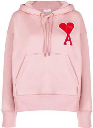 Ami Paris Big de Cœur Patch hoodie