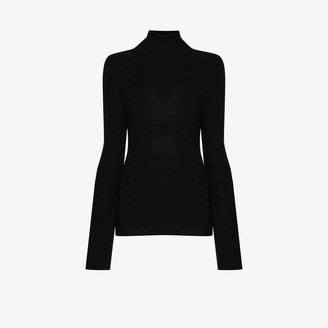 Ganni Cutout Back Merino Wool Sweater