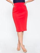 ELOQUII Plus Size Nautical Pencil Skirt