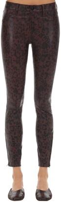 J Brand Mid Rise Cheetah Print Leather Pants