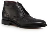 Loake Black 'harrington' Leather Lace Up Boots