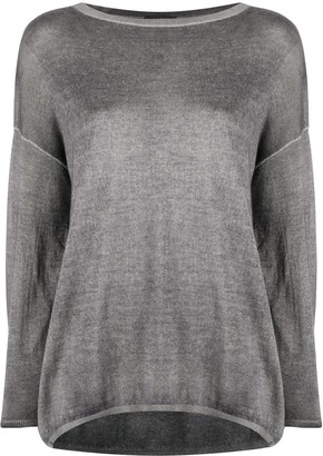 Avant Toi Drop-Shoulder Knitted Top
