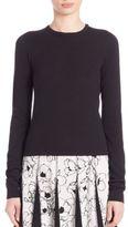 Oscar de la Renta Cashmere & Silk Pullover Top