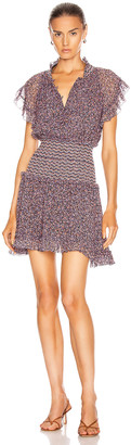 Jonathan Simkhai Serena Floral Chiffon Dress in Sedona | FWRD