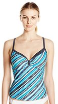 Free Country Women's Cabana Stripe Sweetheart Tankini