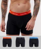 Calvin Klein Cotton Stretch 3 pack boxer briefs in black