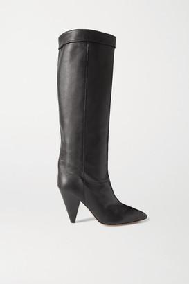 Isabel Marant Loens Leather Knee Boots - Black